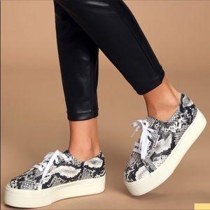 NWOT Superga 2790 Pufanw Python Platform Sneakers